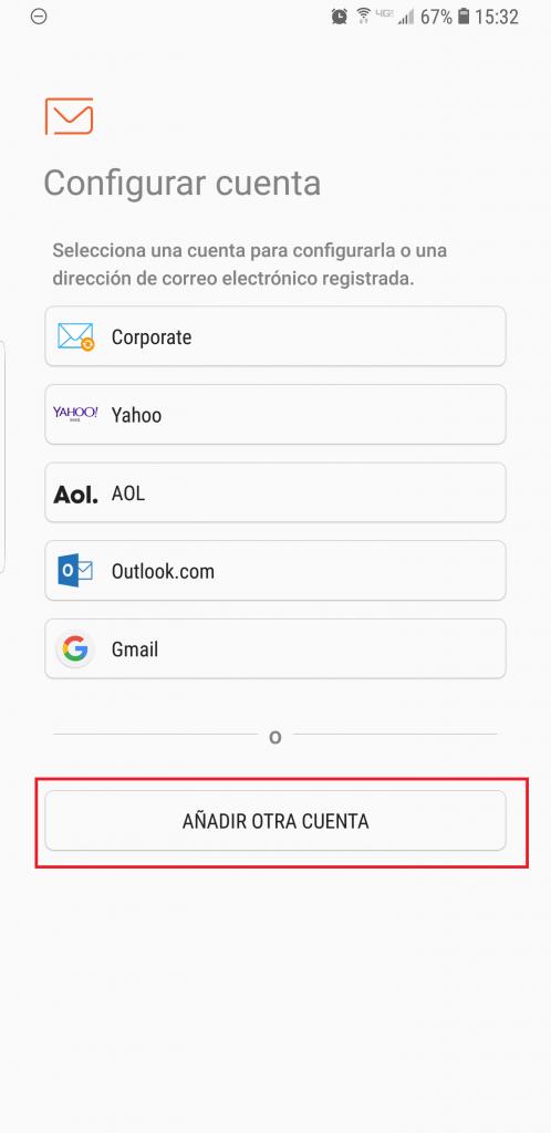 Imagen 1 - Configurar correo de Nominalia en Android