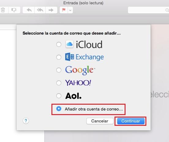 Configurar email en OS X Yosemite