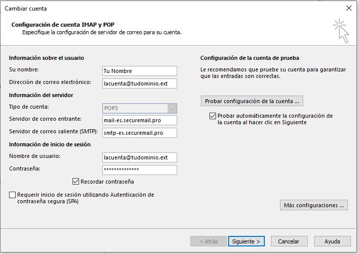 Imagen 1 - Cómo configurar correo en Outlook 2010