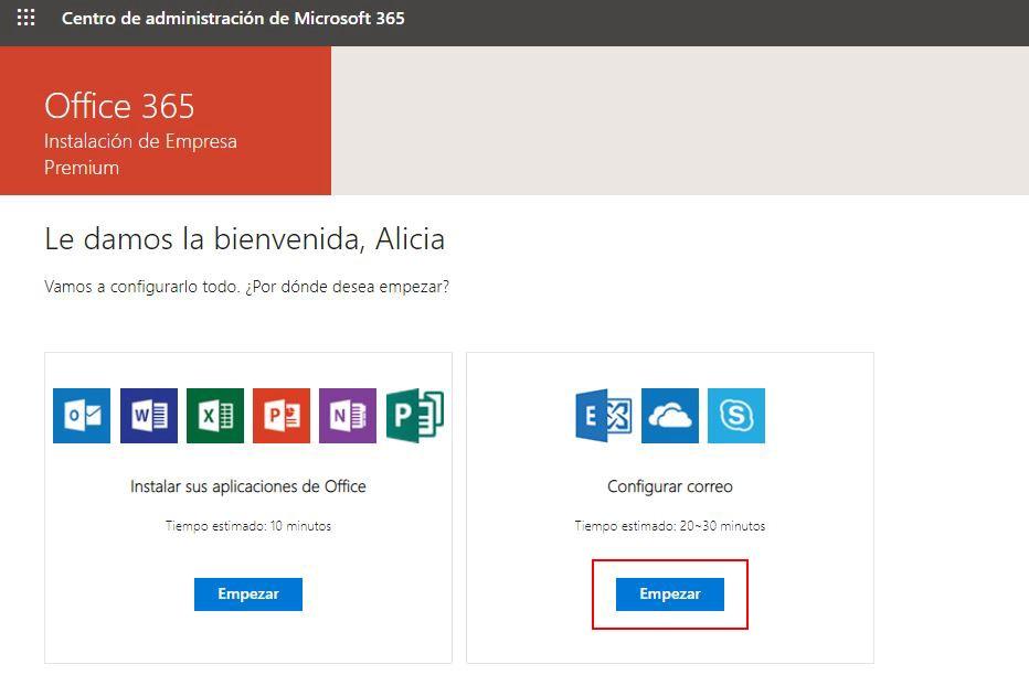 Configurar correo Office 365