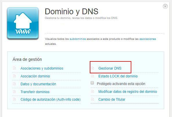 Gestión de DNS de un dominio en Nominalia