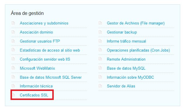 Instalar SSL Hosting Windows