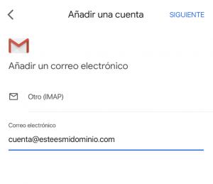 Usar Gmail para email Nominalia
