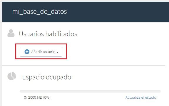 gestionar usuarios base de datos