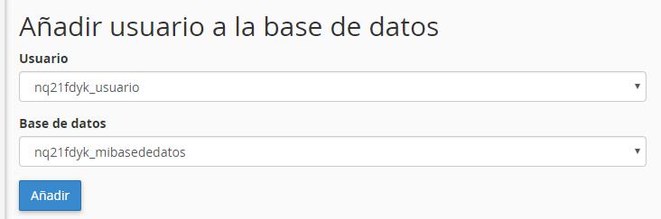Poner nombre a base de datos en mysql