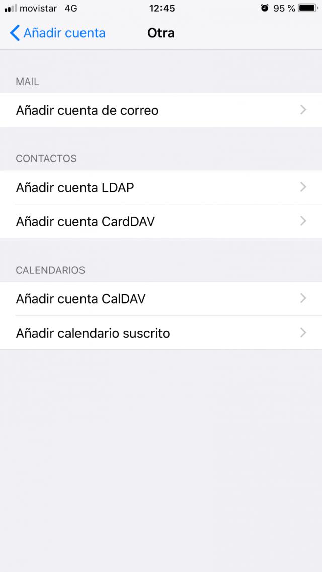 Imagen 4 - Configurar correo en iPhone o iPad (y iPod) Añadir cuenta de correo