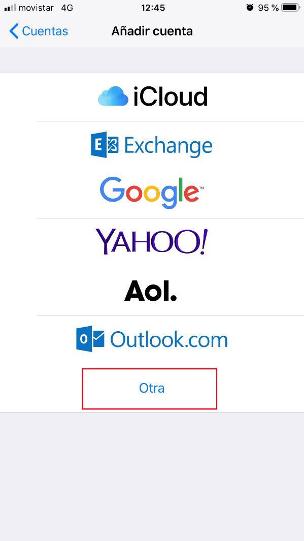 Imagen 3 - Configurar correo en iPhone o iPad (y iPod) Añadir otra