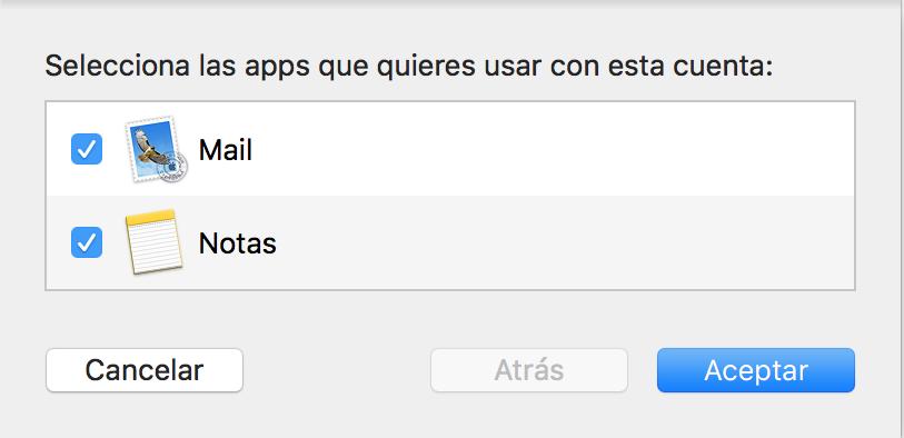 Imagen 7 - Configurar un correo en Mail de Mac OS High Sierra y Mojave Apps