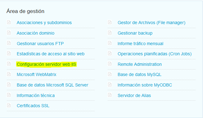 Gestionar php de un hosting