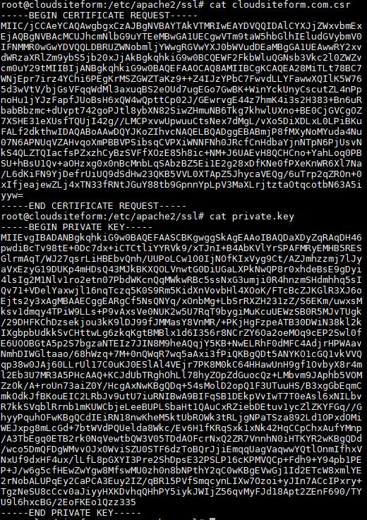 Imagen 3 - Cómo instalar un certificado SSL en Debian o Ubuntu Claves CSR y KEY