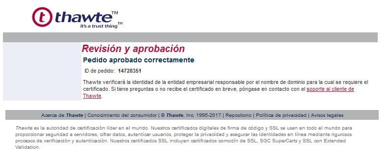 Confirmación Certificadora