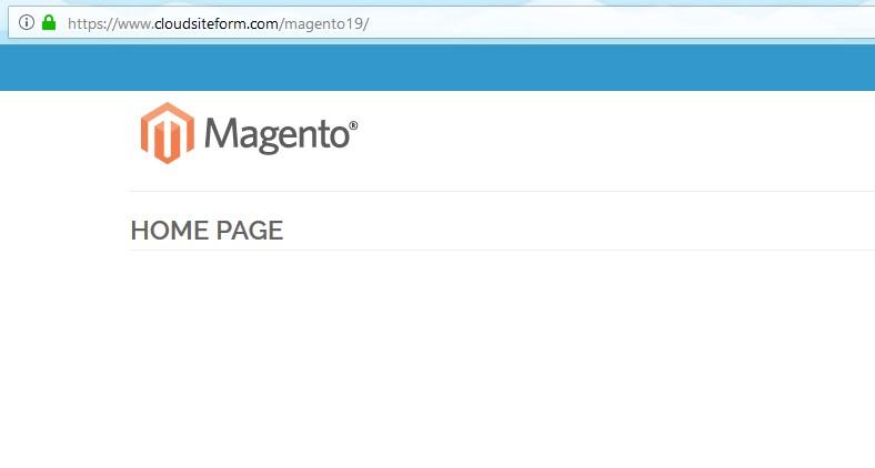 HTTPS en Magento