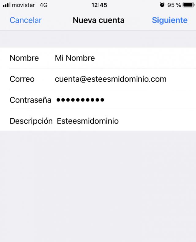 Imagen 5 - Configurar correo en iPhone o iPad (y iPod) Nueva cuenta