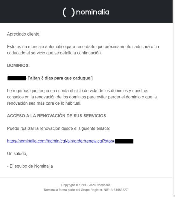 Alerta phishing: ¡no clicar!