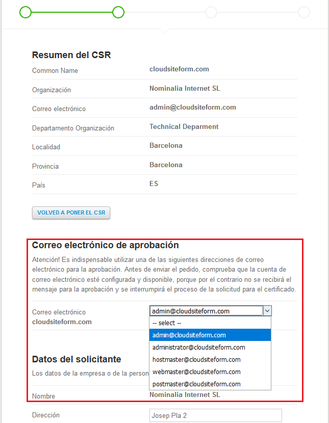 Imagen 4 - Cómo instalar un certificado SSL en Windows Server 2016 Resumen CSR