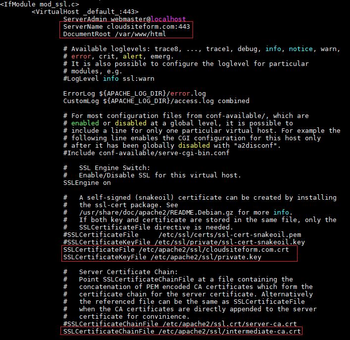 Imagen 8 - Cómo instalar un certificado SSL en Debian o Ubuntu VirtualHost