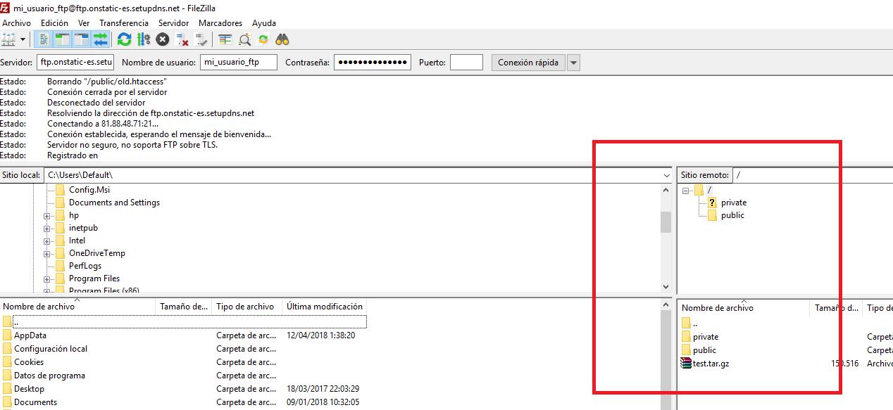 Configurar FTP Hosting Windows Nominalia