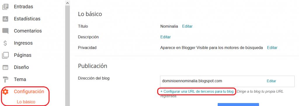 Imagen 1 - Configurar o conectar dominio con Blogger (Blogspot) - Iniciar sesión
