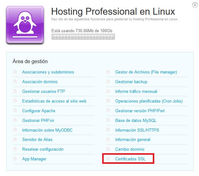 Emitir SSL Hosting Linux