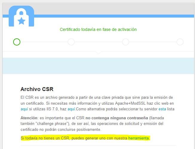 cómo generar un CSR